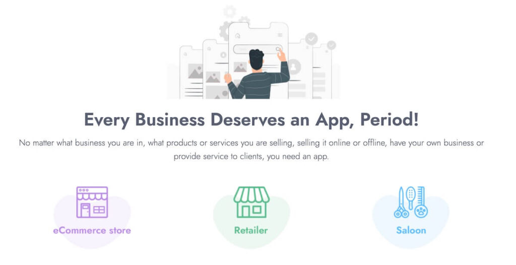 Great business tool - Features of AppsBuilder Pro powerful Progressive Web App for your business to engage more visitors and increase sales