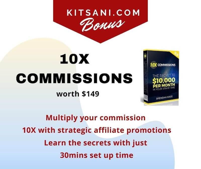 Kitsani.com Exclusive Bonuses - 10X Commission worth $149