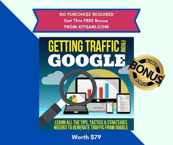Free Bonus No Purchase Required - Getting Traffic From Google