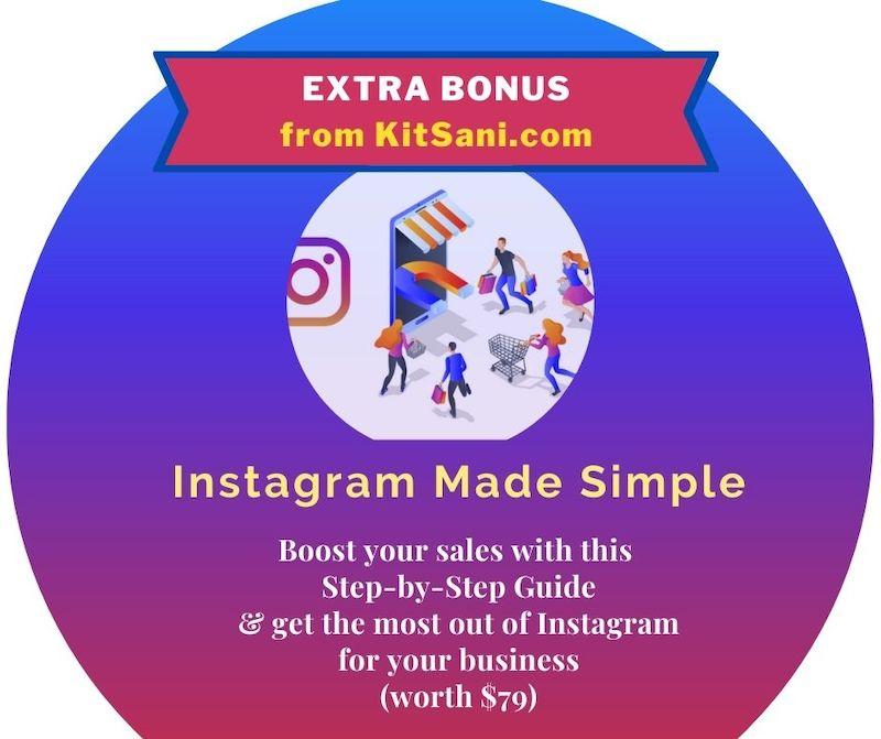 Kitsani.com Exclusive Bonuses -Instagram Made Simple