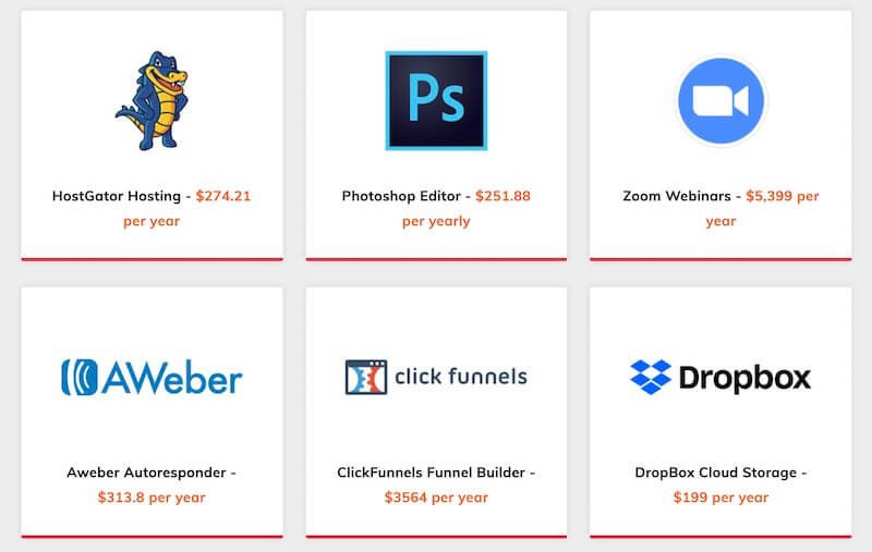 ProfitSuite Powerful all-in-1 business solution - HostGator, Zoom, Aweber, Photoshop, Clickfunnels, Dropbox