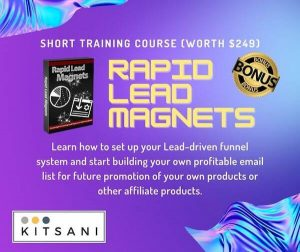 Kitsani.com Exclusive Bonuses - Rapid Lead Magnets