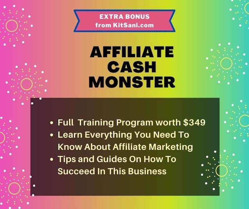 Kitsani.com Bonus - Affiliate Cash Monster