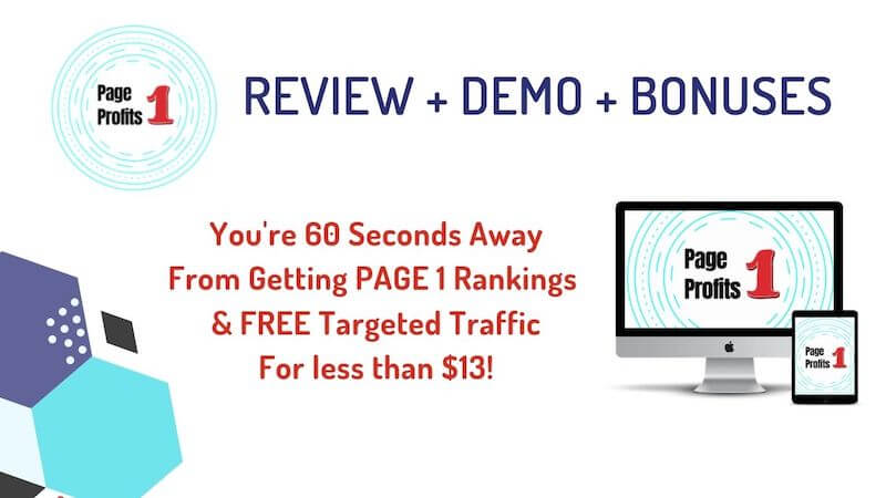Page One Profits Review Demo and Bonuses by Kitsani.com