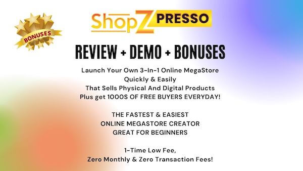 ShopZPresso Review Demo Bonuses - ARE YOU STUCK IN A LOCKDOWN AT HOME? WHY NOT START A NEW BUSINESS