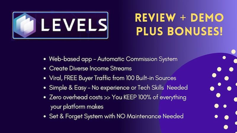 Levels - cloud based software app ready-made platform to generate multiple sources of income with free traffic