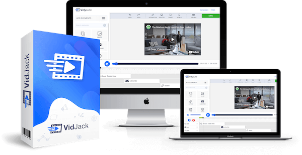VidJack Product Image - Start embedding interactive video elements to boost sales