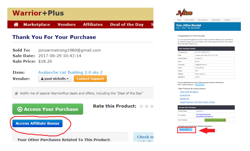 Warrior Plus & JV Zoo Purchase Access